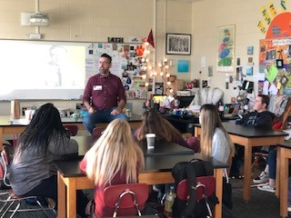 CERRA's Todd Scholl visits classrooms to discuss the benefits of mindfulness.